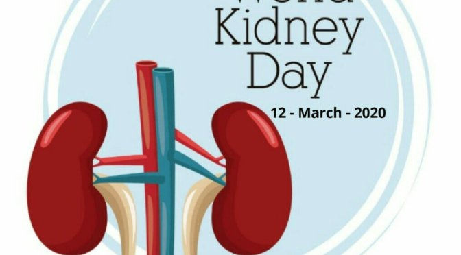 Today is World Kidney Day.